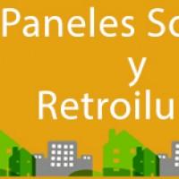 PANELES SOLARES Y RETROILUMINACIÓN CHIMENEA
