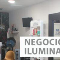 NEGOCIO CON ILUMINACION LED